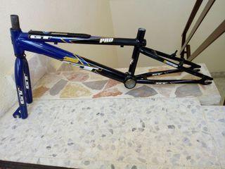 cuadro + horquilla bicicleta bmx gt