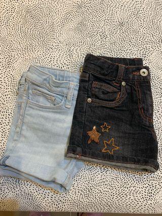 Shorts jeans Boboli y H&M