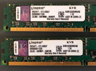 Memoria ram kingston 8gb (2x4gb)