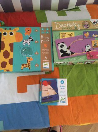 Pack 3 juegos puzzles + 2 años educativos