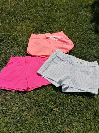 lote 44 shorts niña, pantalones cortos