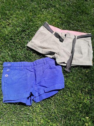 lote 46 niña shorts otoño 10 años, pantalones cort