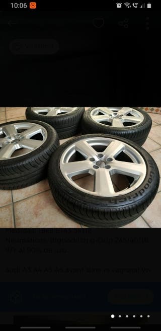 """Llantas Audi 18"""" originales con neumáticos nuevos"""