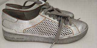 zapatillas plateadas Michael Kors