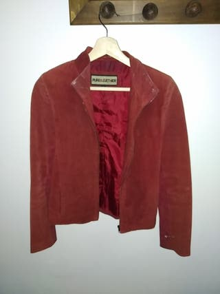 chaqueta de cuero- ante