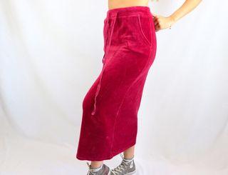 Falda midi rosa teja talla S