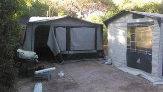 caravana con avance 4 plazas camping el saler