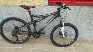 """Bicicleta Race Mountain doble suspensión 26"""""""
