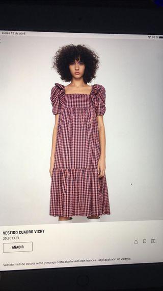 Vestido cuadro vichy Zara