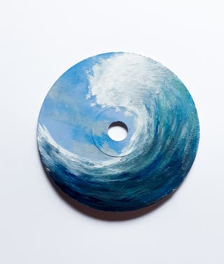 wave painted cd
