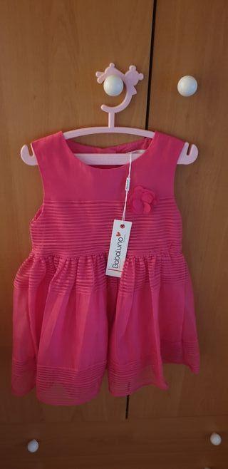 vestido niña rosa fucsia 18 - 24 meses. NUEVO!