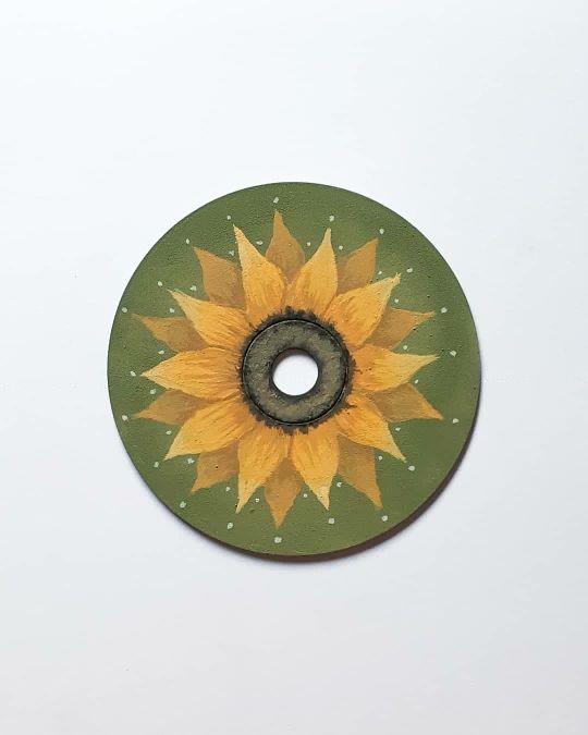 sunflower painted cd