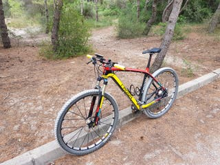 bicicleta 29 carbono edicion especial + horquilla