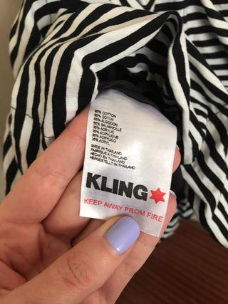Vestido bandeau de rayas de KLING