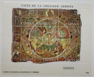 Sellos España, tapiz de la Creación Gerona, 1980