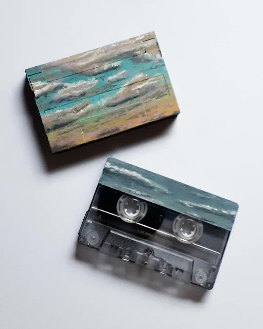 painted blank cassettes