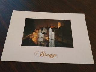 Tarjeta Postal Brugge Bélgica - Brujas Groene Rei