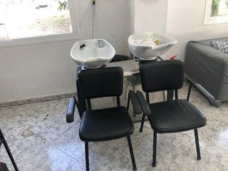 Lavacabeza doble con sillas