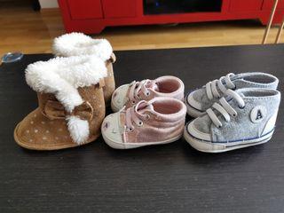 3 pares de zapatos bebé Talla 16
