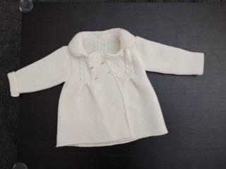 Abrigo unisex bebé lana, talla 6 meses
