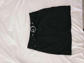 Falda negra denim niña T32