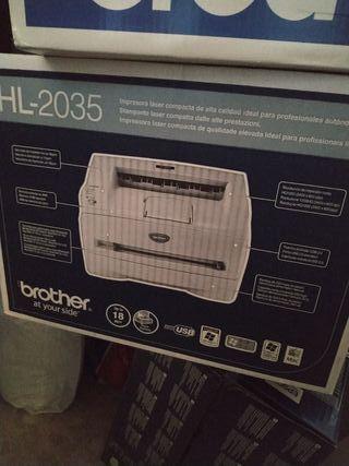 Impresora láser tóner monocromo Brother HL 2035