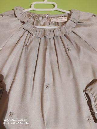 blusa plateada niña