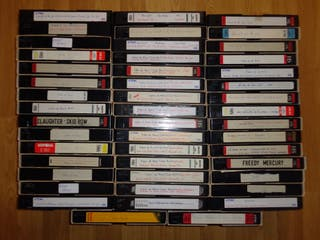 Lote 47 Vhs Grabados Heavy, Rock, Metal...