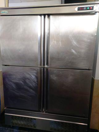 Armario frigorifico doble Acero inox
