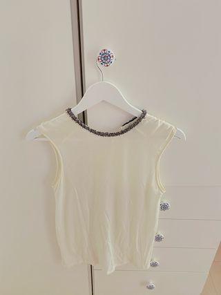 Blusa zara blanca