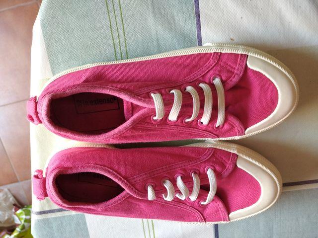 Zapatillas con elástico no cordones talla 32