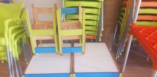 mesa niños + 4 sillas