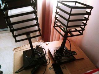 lámpara techo y lampara mesita (2)