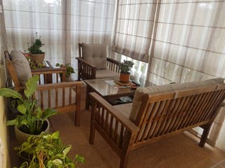 muebles de madera exteriores