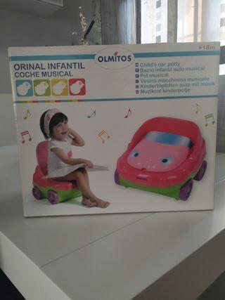 Orinal infantil musical con adaptador para el wc