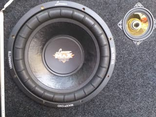 "Subwoofer 12"" Lanzar Max Pro 1600W"