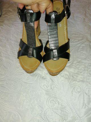 Sandalias de cuña nuevas Top Or talla 38