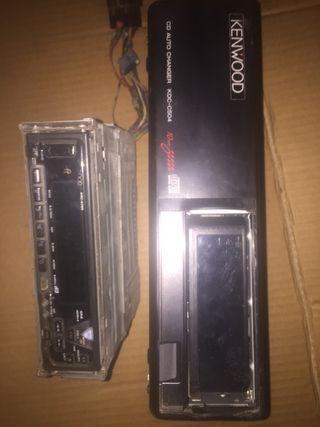 Radio casete y cargador de cds Kenwod