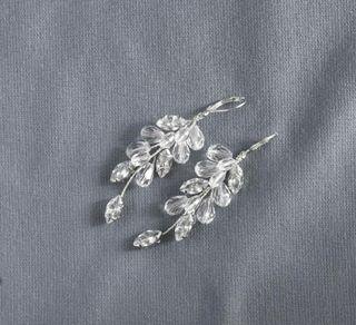 Oferta ! Pendientes de novia de plata de Ley 925