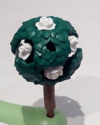 Playmobil - Árbol, Seto, Rosal, Rosas Blanca