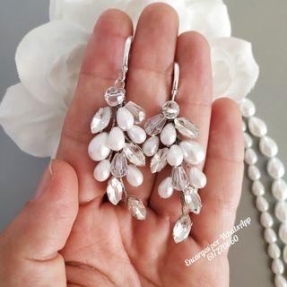 Oferta ! Pendientes novia de plata de Ley 925