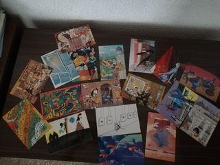 18 postales originales y culturales.