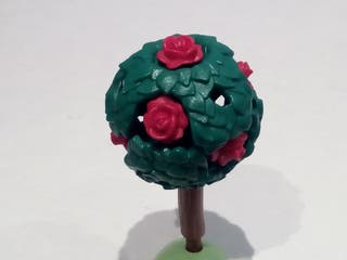 Playmobil - Árbol, Rosal, Seto, Rosas Rojas