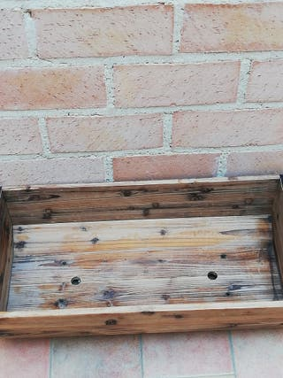 Tiesto de madera nogal y forja