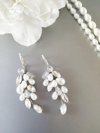 Oferta ! Pendientes de novia plata de Ley 925