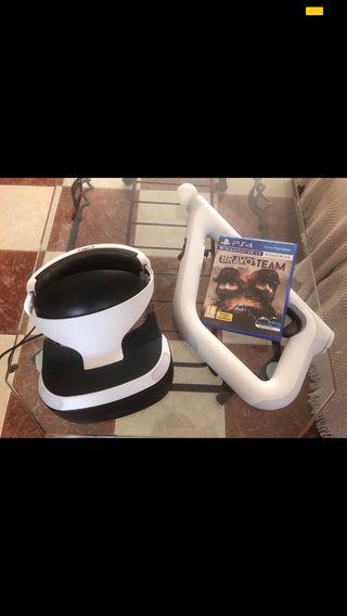 PlayStation VR 2+ cámara V2 +aim controller+ 1jueg