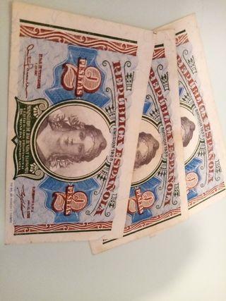 Billetes de Dos Pesetas de 1938 Serie A