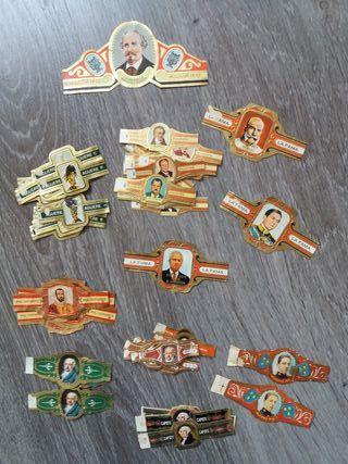 vitolas antiguas de personajes, militares y otros