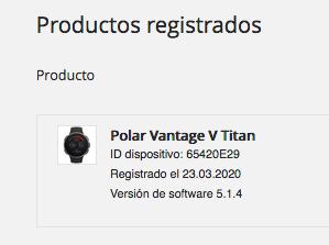 POLAR VANTAGE TITAN + SENSOR H10