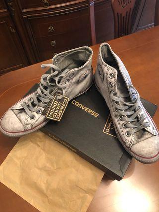 Zapatillas Converse Piel Vintage White